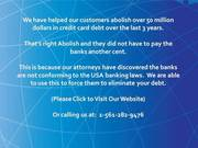 Learn bank fraudulent activities while abolish card dues